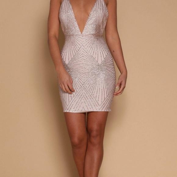 7ad816e7739a Meshki Dresses | Kayda Jeweled Mini Dress | Poshmark